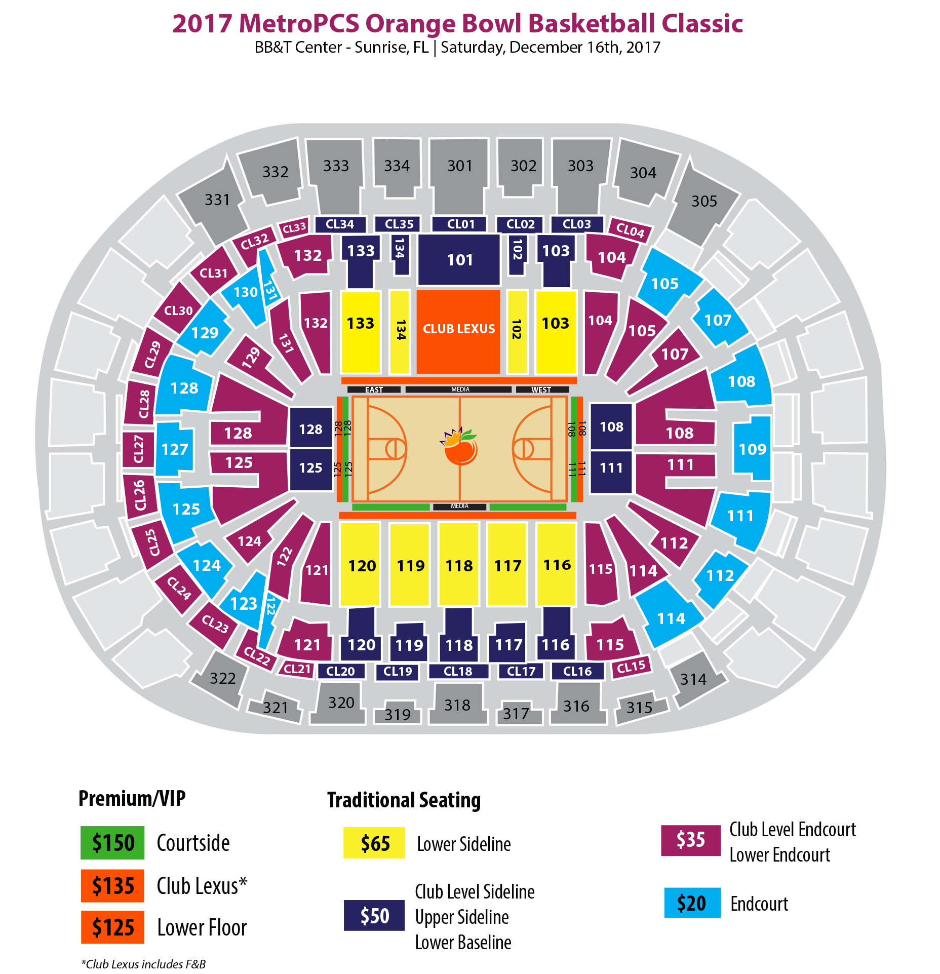 Bb T Center Metropcs Orange Bowl Basketball Classic Orange Bowl